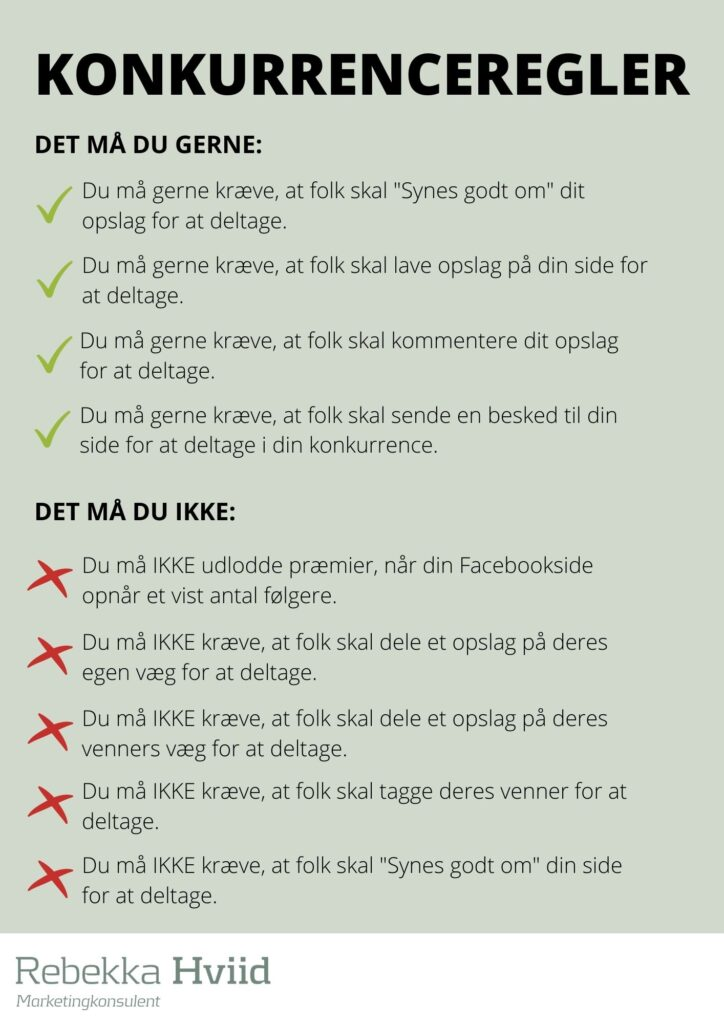 facebook konkurrenceregler